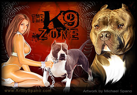 The K9 Zone - Dog Art by Michael Spano