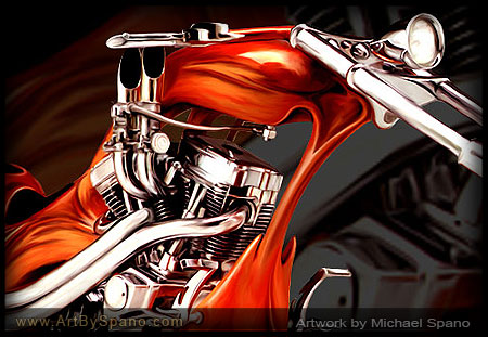 Motorcycle - Biker Art by Michael Spano