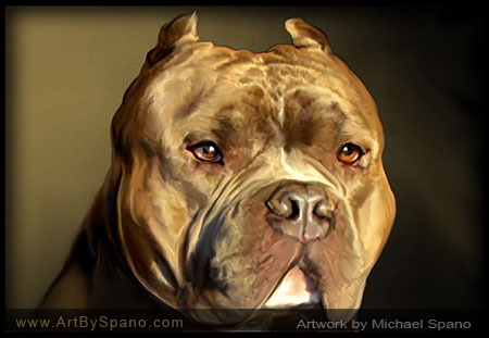 Pit Bull Art by Michael Spano